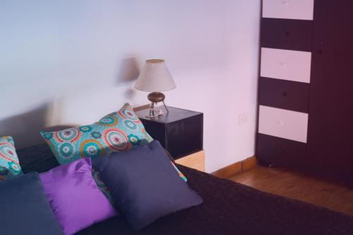 A bed or beds in a room at Florida y Roja