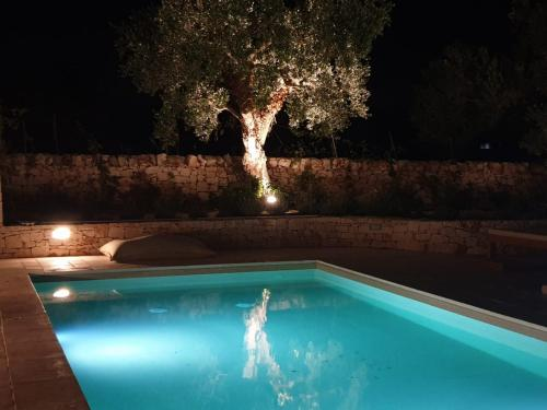 The swimming pool at or near Trulli Ad Maiora