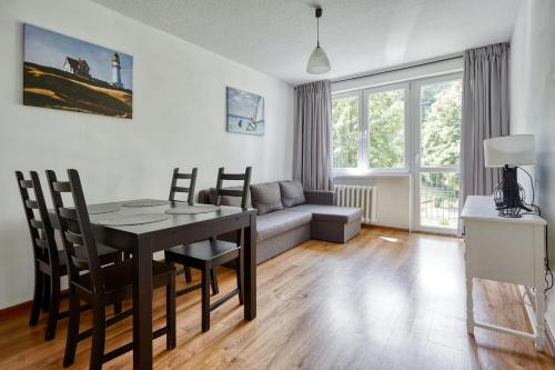 Zona pranzo nell'appartamento
