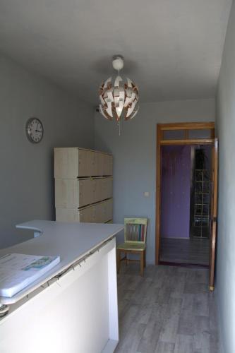 A kitchen or kitchenette at Hostel V Okrug Sveta (Center)