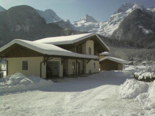Ferienhaus Flatscher in de winter