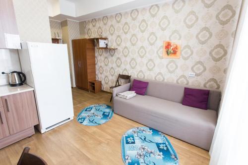 A seating area at Studio on Korolenko street