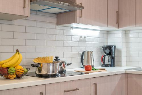 A kitchen or kitchenette at Dione apartment
