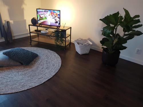 Een TV en/of entertainmentcenter bij Slapen by 't Schouwtje