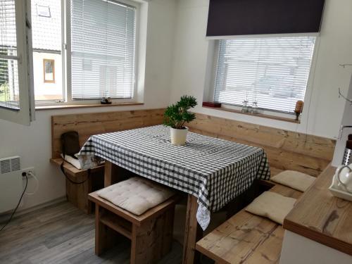 A seating area at Apartma Natura Kope