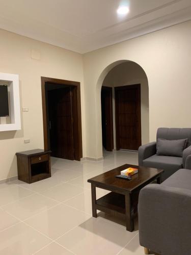 A seating area at سماء الطائف للوحدات السكنيه