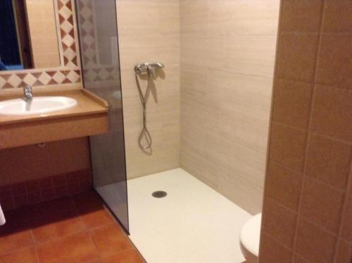 A bathroom at Apartamentos la Atarraya