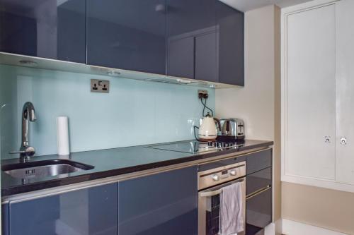 Bright 1 Bedroom Flat Near Farringdon 주방 또는 간이 주방