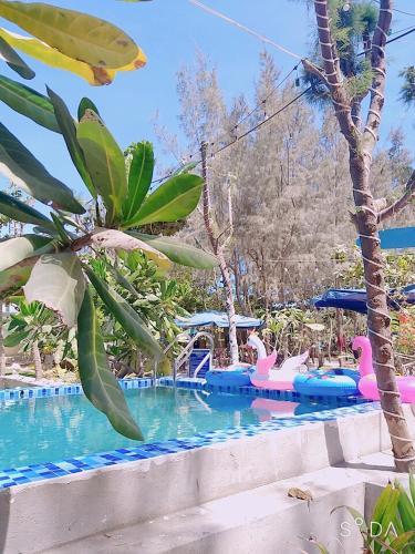 The swimming pool at or close to Hoang Sa Resort