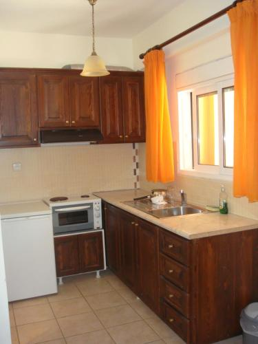 A kitchen or kitchenette at Philippos Hotel Apartments