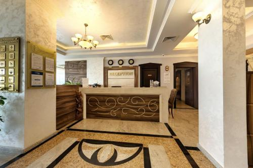 The lobby or reception area at Penelopa Palace Apart Hotel & SPA