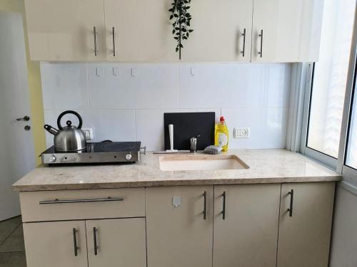 A cozinha ou cozinha compacta de Sunny Florentine Apartment with Balcony