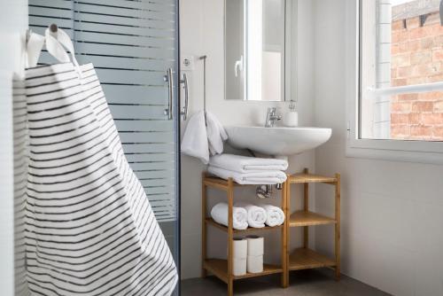 Phòng tắm tại Animapartments Sants
