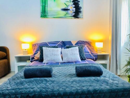 Un ou plusieurs lits dans un hébergement de l'établissement Prague Private Apartments
