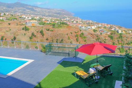 A view of the pool at Prazeres da Vista, Atlantic View In Prazeres, Calheta or nearby