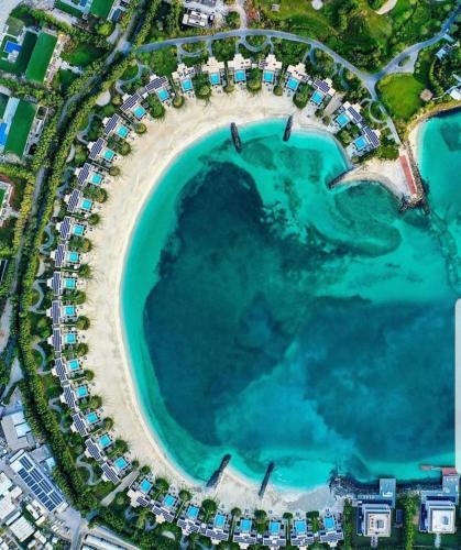 A bird's-eye view of Zaya Nurai Island Resort