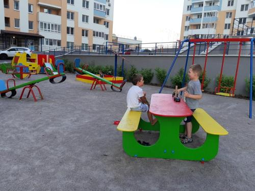 Children's play area at Danchenko`s apartment