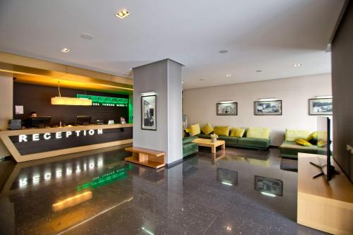 The lobby or reception area at Apartment Orbi Sea Tower in Batumi
