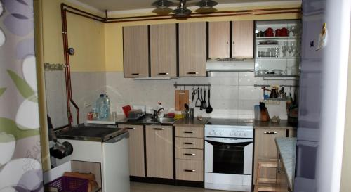 A kitchen or kitchenette at Guest House Sergey