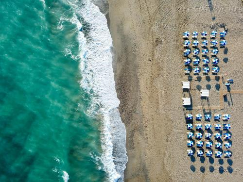 A bird's-eye view of Iperion Beach Hotel