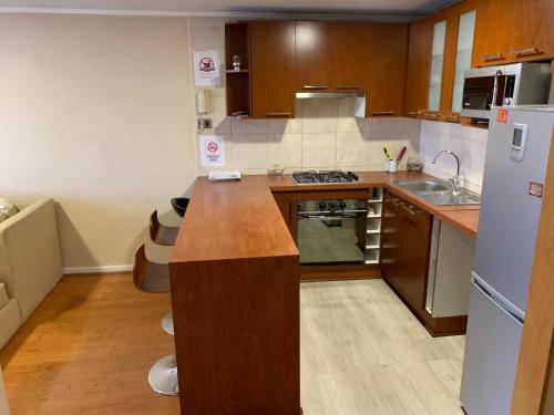 Una cocina o zona de cocina en Departamento Jardín