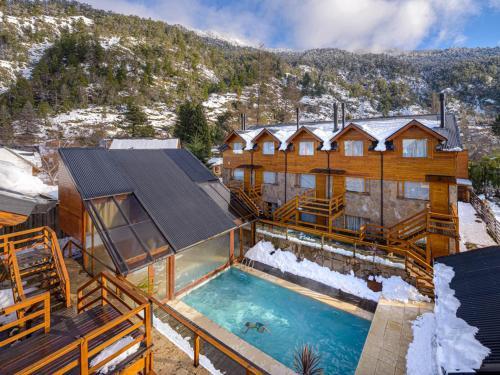 Del Sauco Apart & Spa durante el invierno