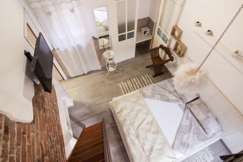Area soggiorno di Suite Maison 1706 Lago Orta