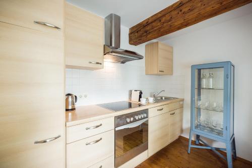 Küche/Küchenzeile in der Unterkunft Exclusive Apartment Lucio Silla