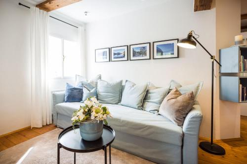 Ein Sitzbereich in der Unterkunft Exclusive Apartment Lucio Silla