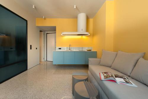 A kitchen or kitchenette at Arcade Project Hi-end Apartments