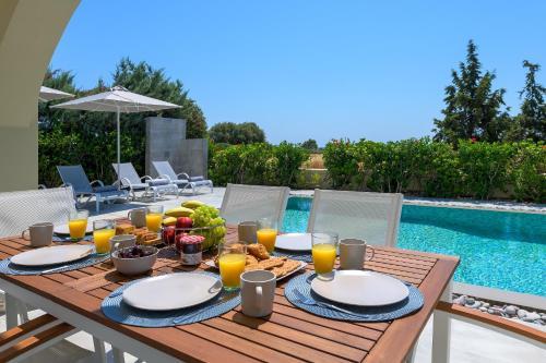 Možnosti snídaně pro hosty v ubytování Olive Tree House