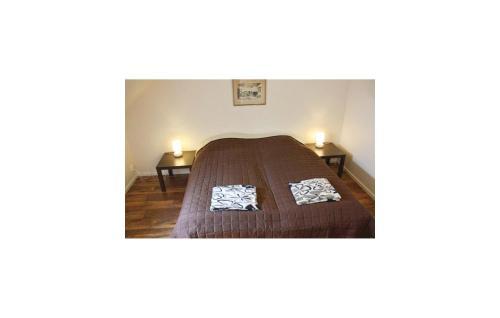 Säng eller sängar i ett rum på Apartment Björka Byaväg Sjöbo III