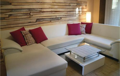 Ein Sitzbereich in der Unterkunft Apartment Birkenallee X