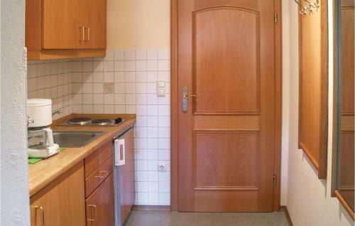 Küche/Küchenzeile in der Unterkunft Studio Apartment in St. Englmar