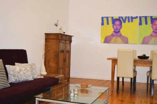 Zona de estar de Berlinappart - Mitte Apartments