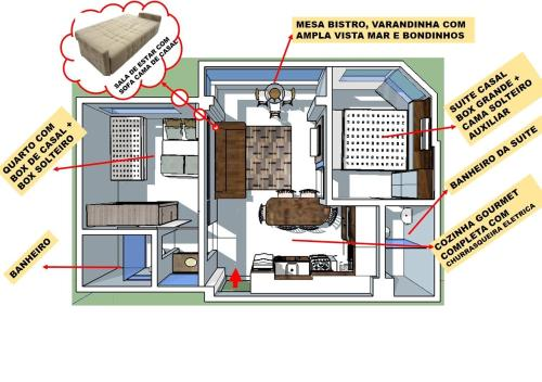 The floor plan of Novo lar Camboriu Park