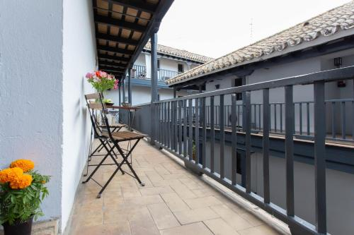 A balcony or terrace at Corral del Conde