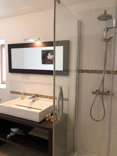 A bathroom at Clos de La Richaudière