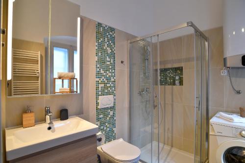A bathroom at Ljubljana Center Apartments