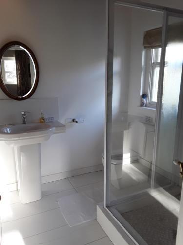 A bathroom at The Duck House