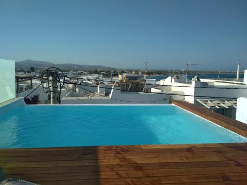 The swimming pool at or near Mystique of Naxos