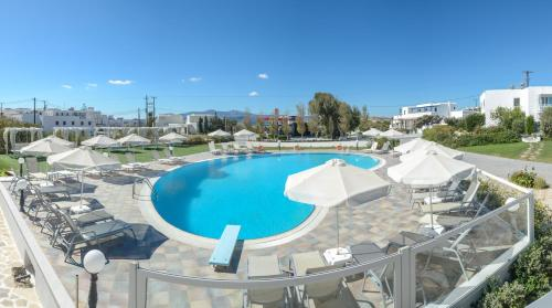 A view of the pool at Birikos Studios & Apartments or nearby