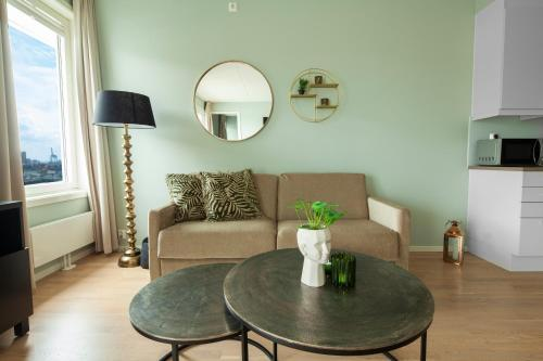 A seating area at Wright Apartments - Sørenga