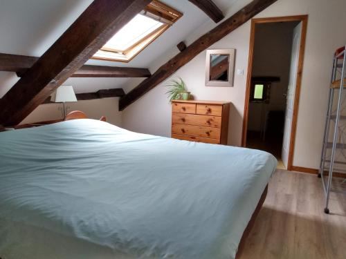 Un ou plusieurs lits dans un hébergement de l'établissement Gites de St Leon