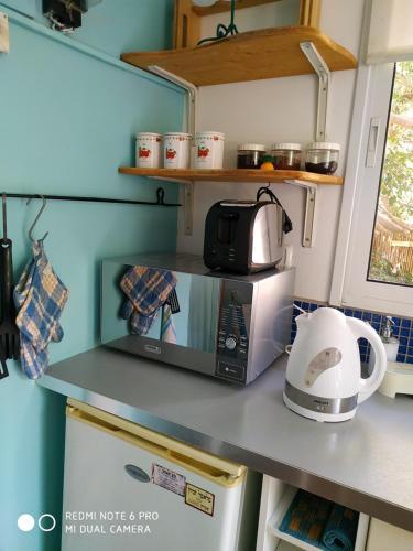Een keuken of kitchenette bij Bed & Blintzes