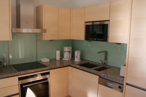 Kuchyň nebo kuchyňský kout v ubytování Appartement Enns by Schladmingurlaub