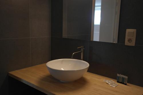 Een badkamer bij De Lanterfanters Vakantiehuisjes