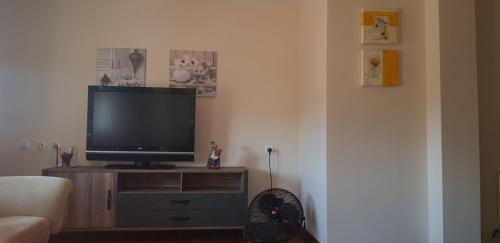 Una televisión o centro de entretenimiento en Home Nature