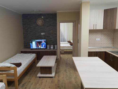 A television and/or entertainment center at Vilotic group,Apartman 2