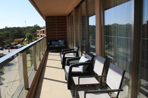 A balcony or terrace at Herdade dos Salgados